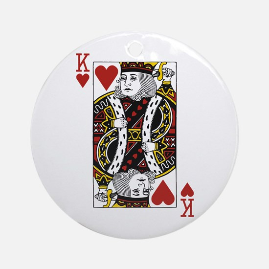 King of Hearts Ornament (Round)