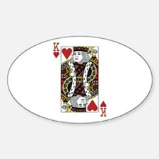 King of Hearts Sticker (Oval)