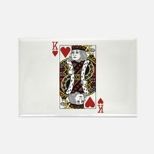 King of Hearts Rectangle Magnet