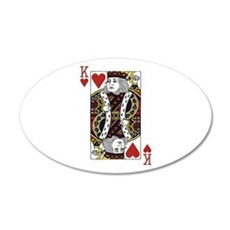 King of Hearts Wall Decal