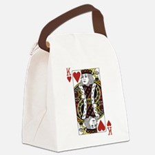 King of Hearts Canvas Lunch Bag