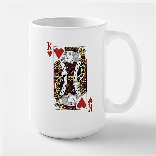 King of Hearts Large Mug