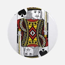 King of Spades Ornament (Round)