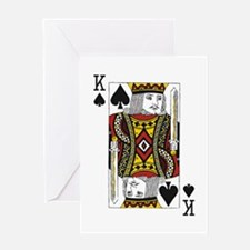 King of Spades Greeting Card