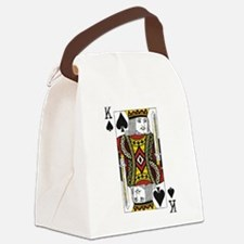 King of Spades Canvas Lunch Bag
