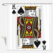 King of Spades Shower Curtain