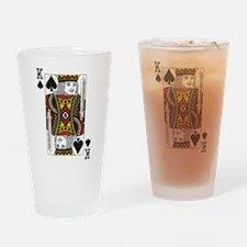 King of Spades Drinking Glass