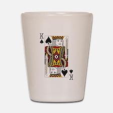 King of Spades Shot Glass