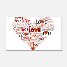 Love Heart Car Magnet 20 x 12
