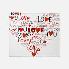 Love Heart Throw Blanket