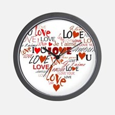 Love Heart Wall Clock