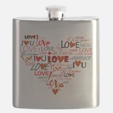 Love Heart Flask