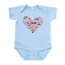 Love Heart Infant Bodysuit