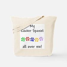 Cocker Spaniel Walks Tote Bag