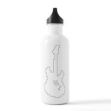 8-Bit style guitar Water Bottle