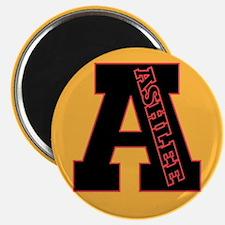 ASHLEE Letterman design Red/b Magnet
