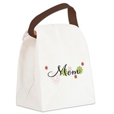 Mom Flowers Canvas Lunch Bag