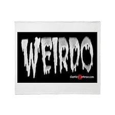 Weirdo Sticker Throw Blanket