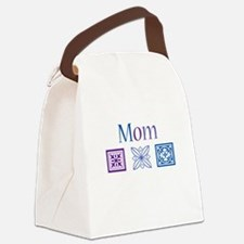 Mom Quilt Blocks Canvas Lunch Bag