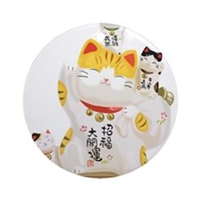 Lucky Cats Ornament (Round)