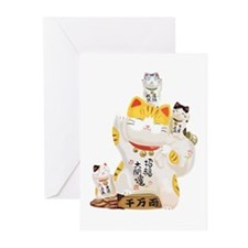 Lucky Cats Greeting Cards (Pk of 10)