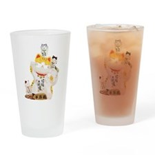 Lucky Cats Drinking Glass