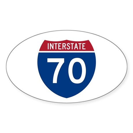 Interstate 70 Oval Sticker