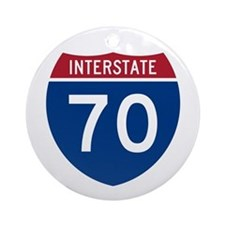 Interstate 70 Ornament (Round)