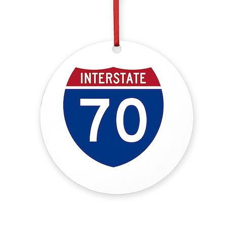 Interstate 70 Ornament (Round)