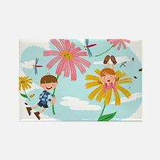 Cute Summer Scene Rectangle Magnet