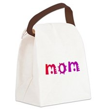 Mom Red Canvas Lunch Bag
