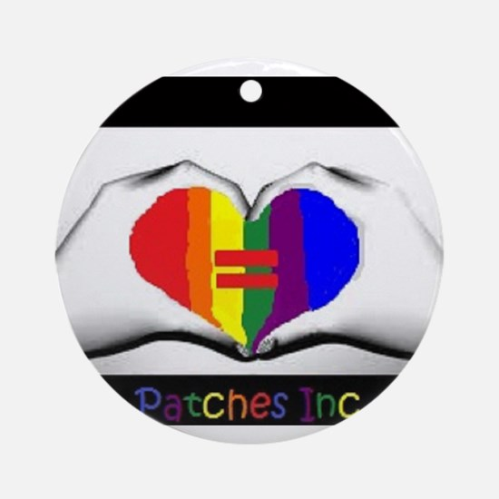 Same Sex Marriage Supporter Logo Ornament (Round)