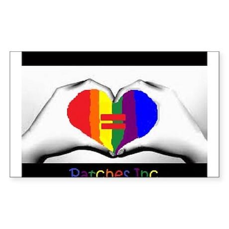Same Sex Marriage Supporter Logo Sticker (Rectangl