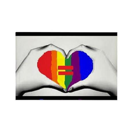 Same Sex Marriage Supporter Logo Rectangle Magnet