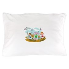 Cute Summer Scene Pillow Case