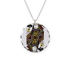 Queen of Clubs Necklace