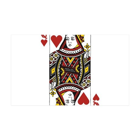 Queen of Hearts 35x21 Wall Decal