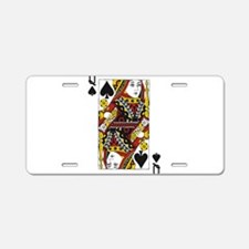 Queen of Spades Aluminum License Plate