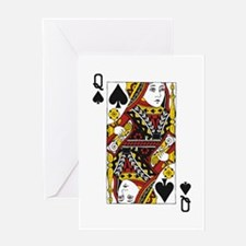 Queen of Spades Greeting Card
