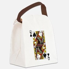 Queen of Spades Canvas Lunch Bag