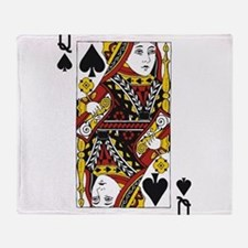 Queen of Spades Throw Blanket