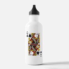 Queen of Spades Sports Water Bottle