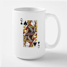 Queen of Spades Large Mug