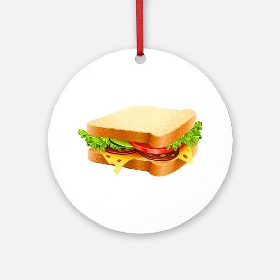 Sandwich Ornament (Round)