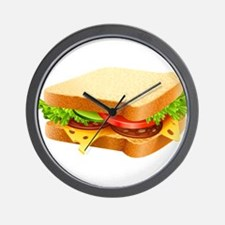 Sandwich Wall Clock