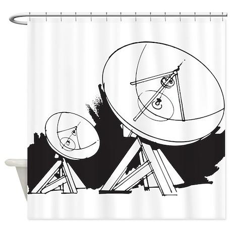 Satellites Shower Curtain