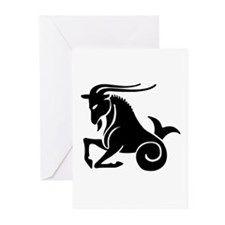Capricorn - Goat/Fish Greeting Cards (Pk of 10