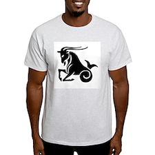Capricorn - Goat/Fish Ash Grey T-Shirt
