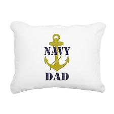 Navy Dad Rectangular Canvas Pillow