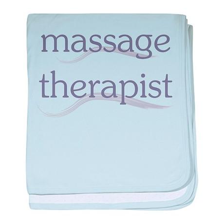 Massage Therapist baby blanket